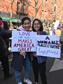 一月にニューヨークのWomen's Marchに参加しました!