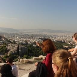 人文学の授業の一環でギリシャに来ています!